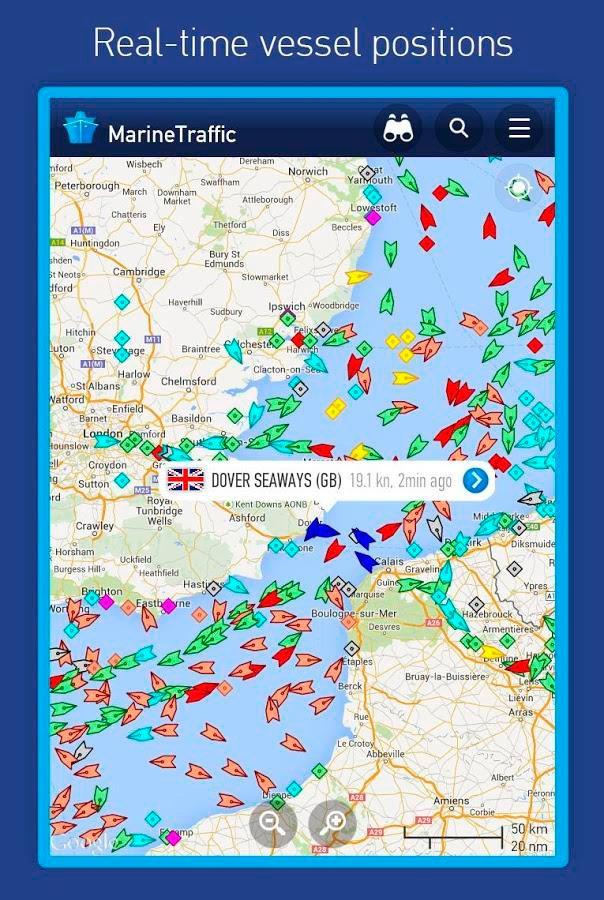 MarineTraffic Εφαρμογές για κινητά