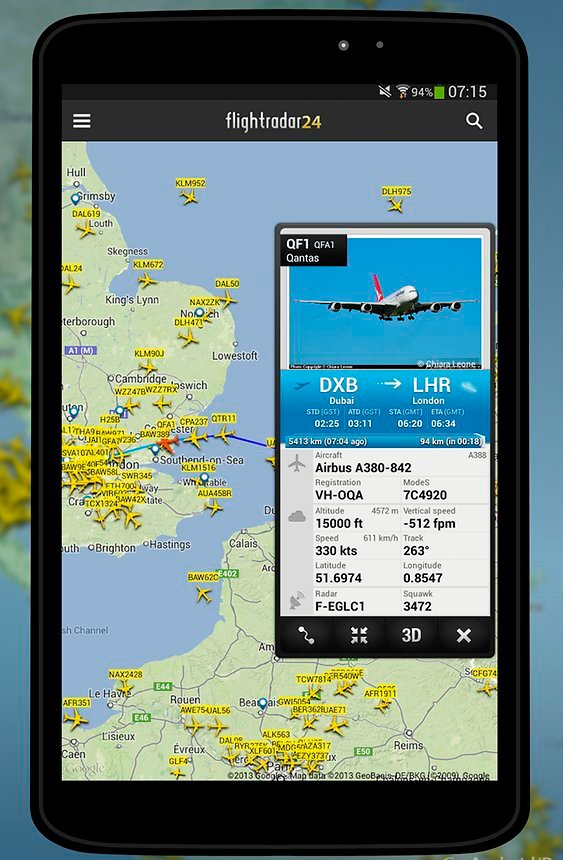 flightradar24 Εφαρμογή Για Κινητά